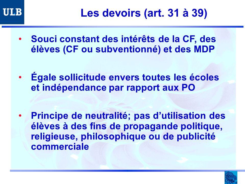 Les devoirs (art.
