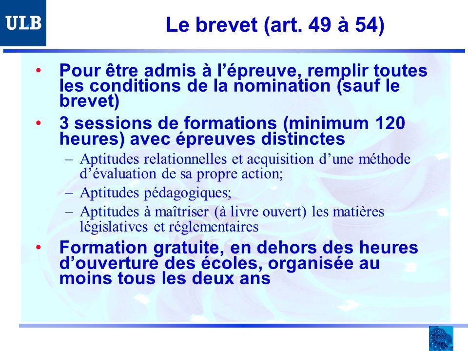 Le brevet (art.