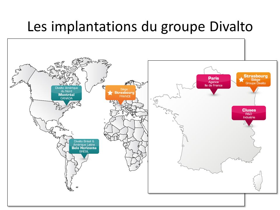 Les implantations du groupe Divalto