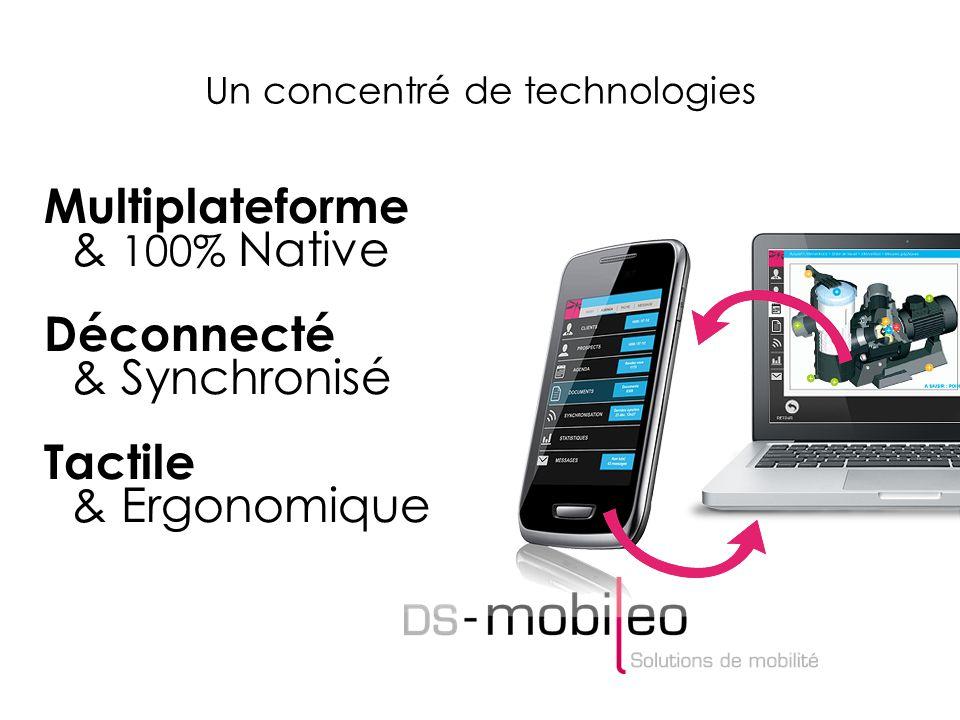 Un concentré de technologies Multiplateforme & 100% Native Déconnecté & Synchronisé Tactile & Ergonomique