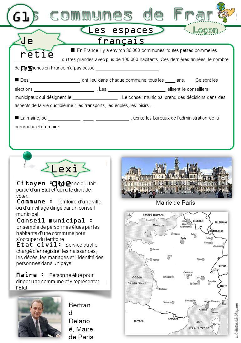 G1 En France il y a environ 36 000 communes, toutes petites comme les __________________ ou très grandes avec plus de 100 000 habitants. Ces dernières
