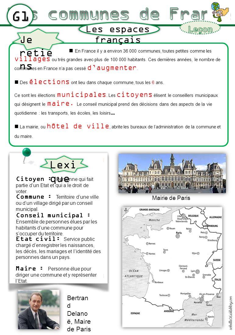 En France il y a environ 36 000 communes, toutes petites comme les villages ou très grandes avec plus de 100 000 habitants. Ces dernières années, le n