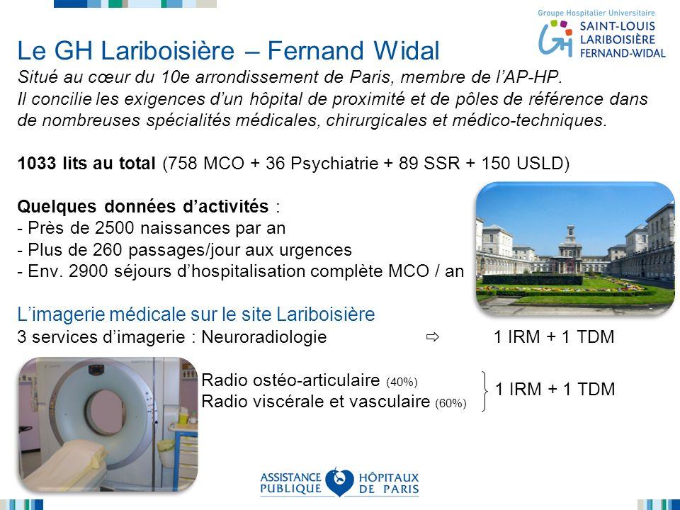 Le GH Lariboisière – Fernand Widal Situé au cœur du 10e arrondissement de Paris, membre de lAP-HP. Il concilie les exigences dun hôpital de proximité