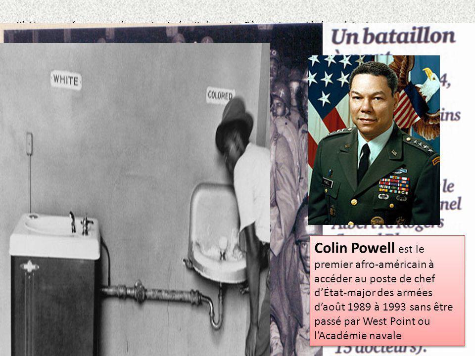 II) Une armée traversée par les inégalités qui reflètent la société américaine Larmée US reflet des discriminations raciales : longtemps considérés co