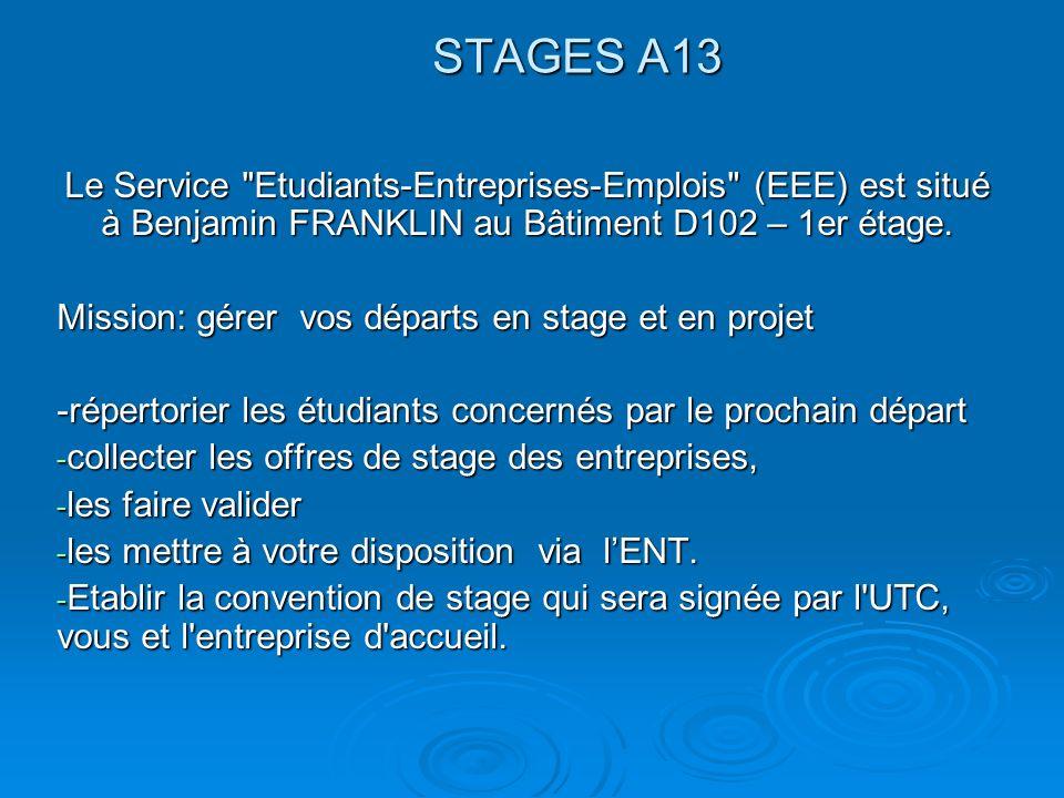 STAGES A13 Le Service