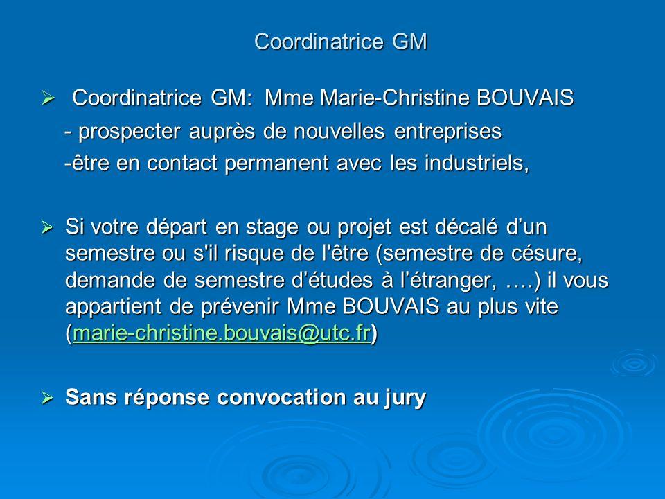 Coordinatrice GM Coordinatrice GM: Mme Marie-Christine BOUVAIS Coordinatrice GM: Mme Marie-Christine BOUVAIS - prospecter auprès de nouvelles entrepri