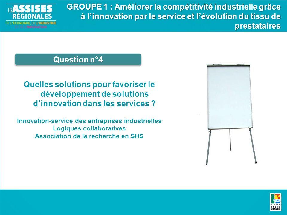 Quelles solutions pour favoriser le développement de solutions dinnovation dans les services .