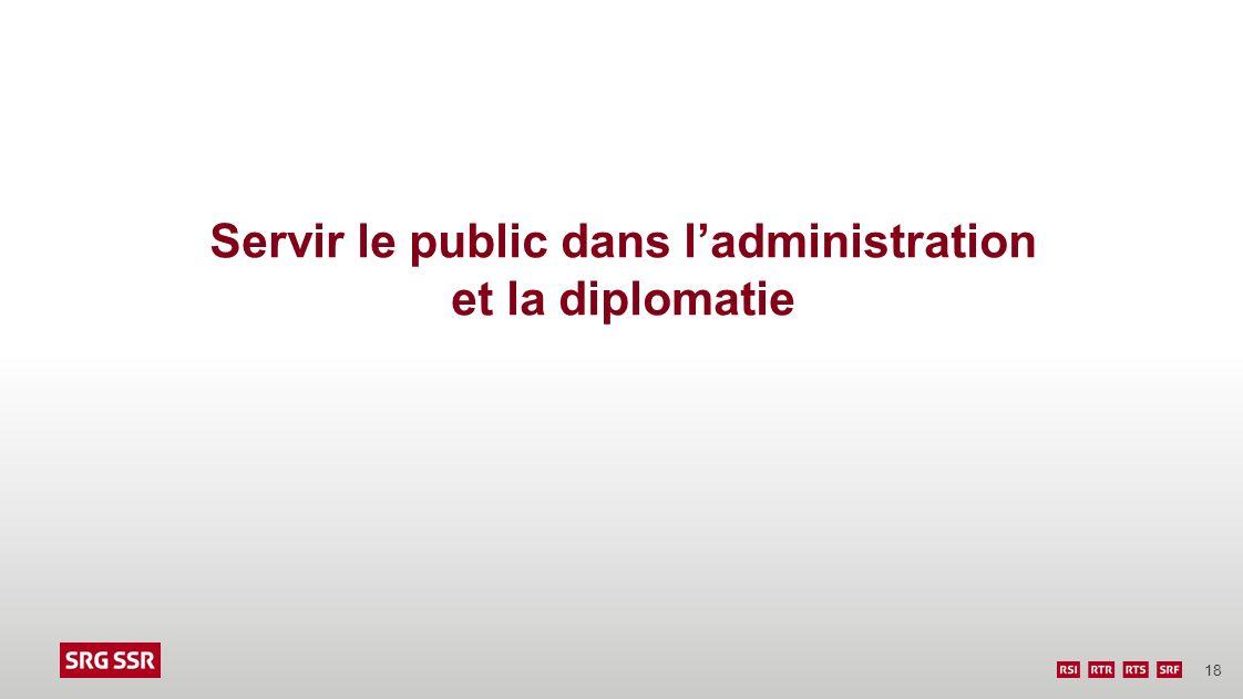18 Servir le public dans ladministration et la diplomatie