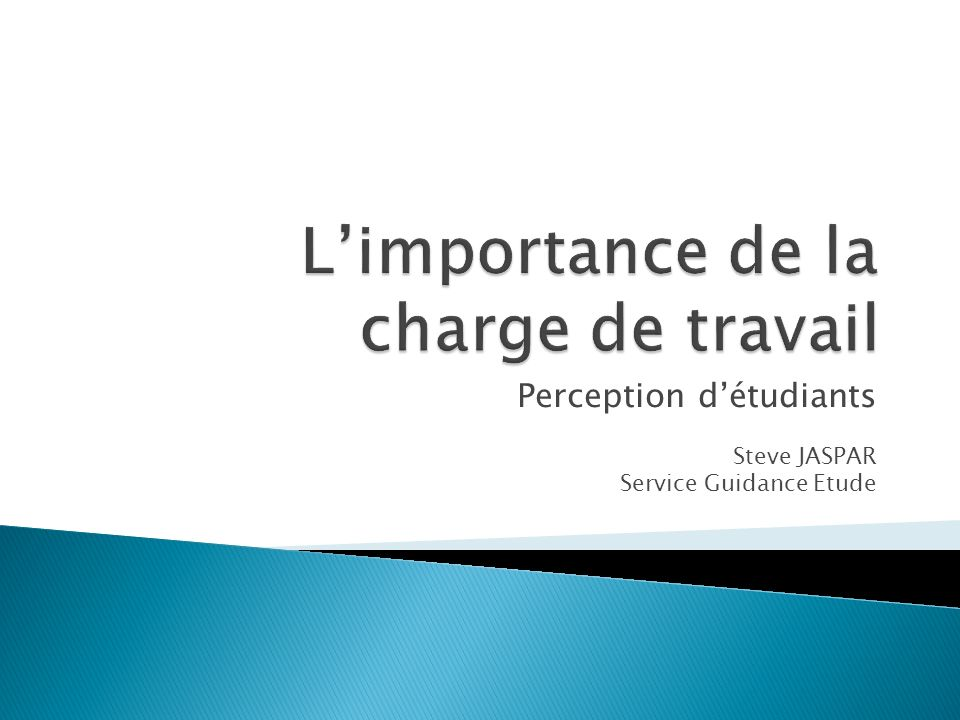 Perception détudiants Steve JASPAR Service Guidance Etude