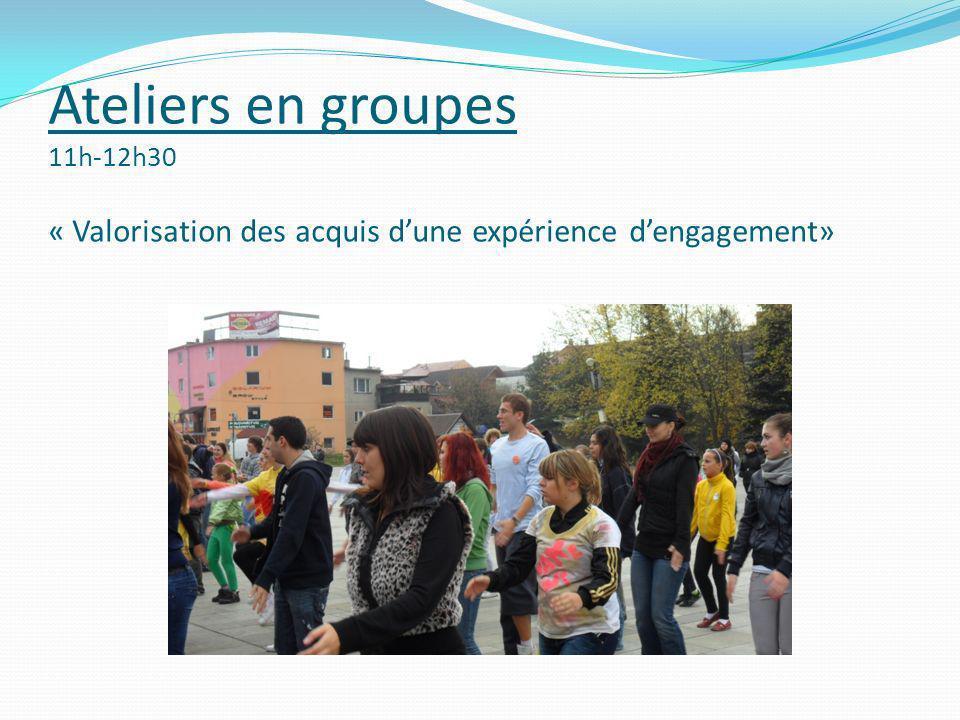 Théâtre-Forum 14h-15h30 « Des acquis à la reconnaissance du volontariat, quelles passerelles vers le monde professionnel.