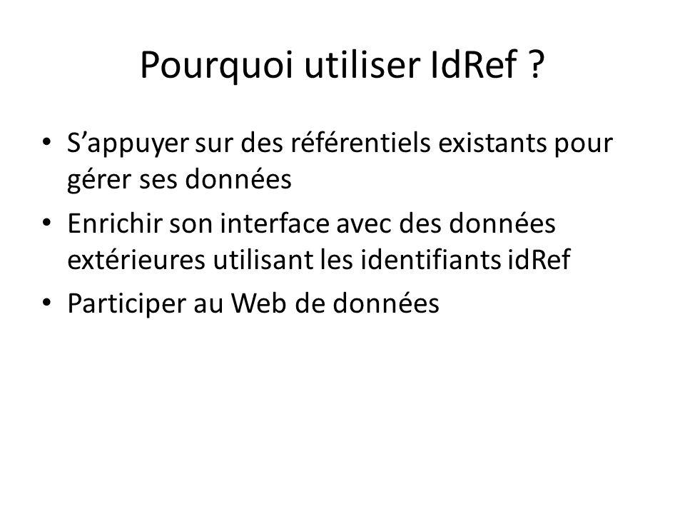 Pourquoi utiliser IdRef .
