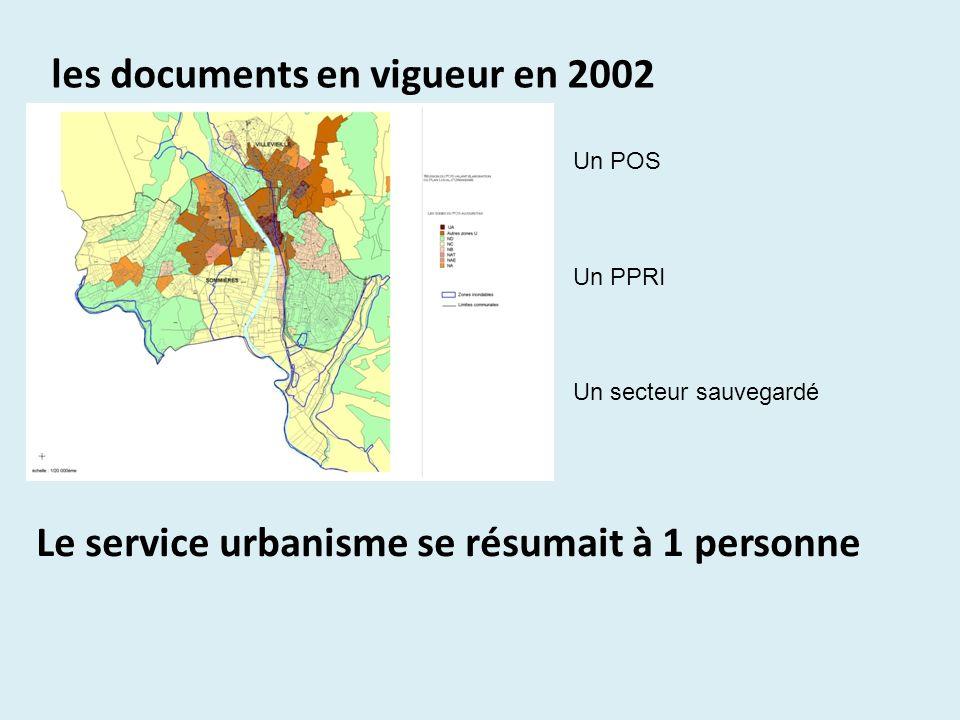 les documents en vigueur en 2002 Un POS Un PPRI Un secteur sauvegardé Le service urbanisme se résumait à 1 personne