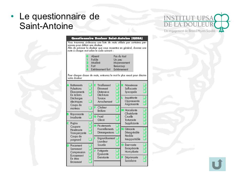 34 Le questionnaire de Saint-Antoine