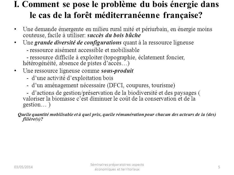 I. Comment se pose le problème du bois énergie dans le cas de la forêt méditerranéenne française? Une demande émergente en milieu rural mité et périur