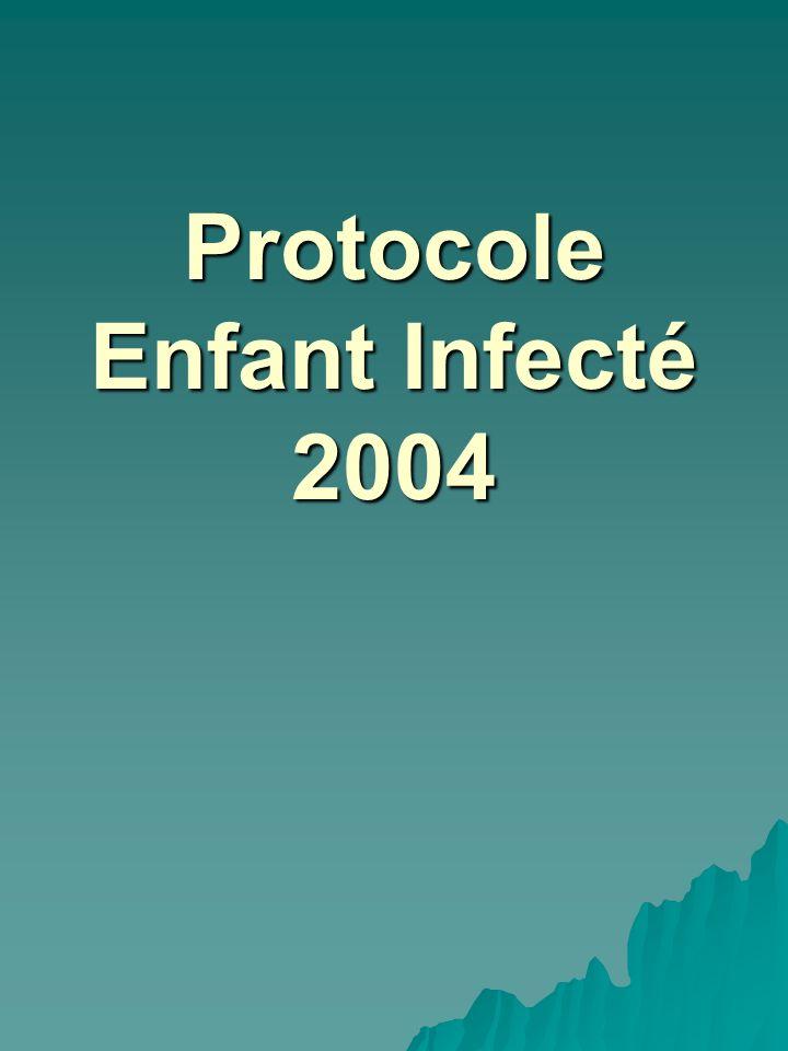 Protocole Enfant Infecté 2004