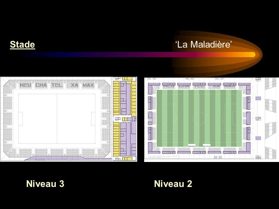 La Maladière Stade Niveau 3Niveau 2