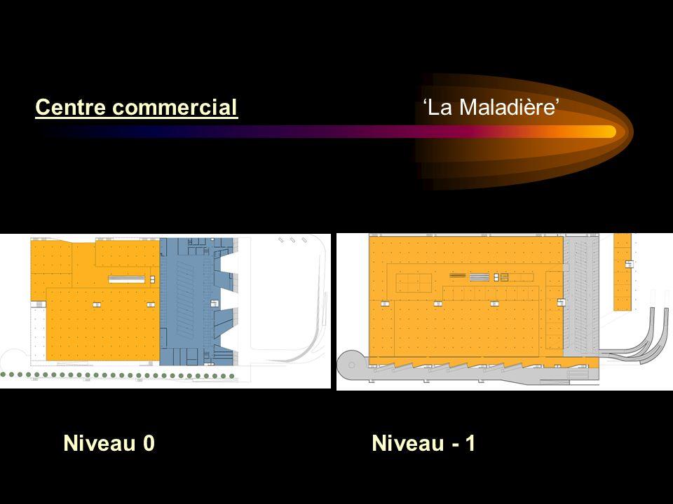 La Maladière Centre commercial Niveau 0Niveau - 1