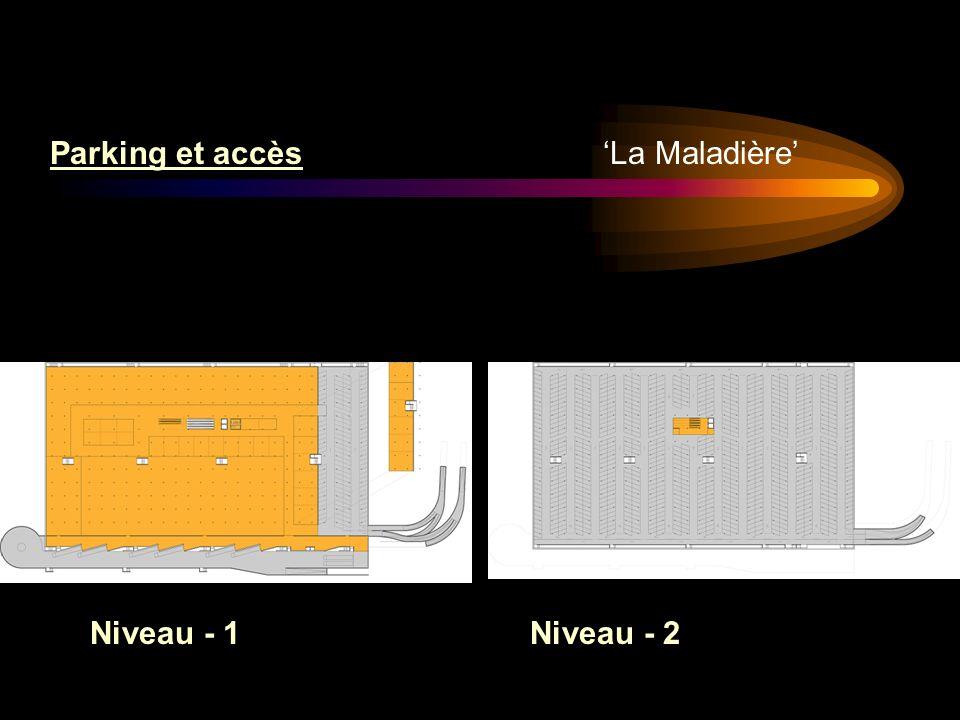 La Maladière Parking et accès Niveau - 1Niveau - 2