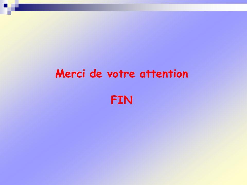 Merci de votre attention FIN