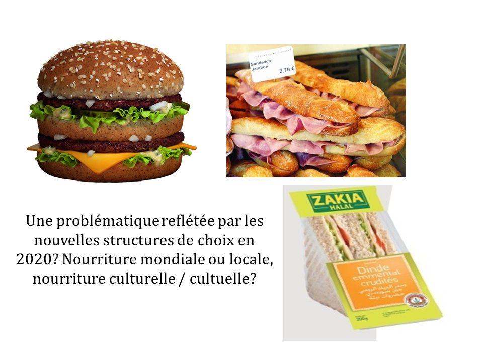 Une problématique reflétée par les nouvelles structures de choix en 2020? Nourriture mondiale ou locale, nourriture culturelle / cultuelle?