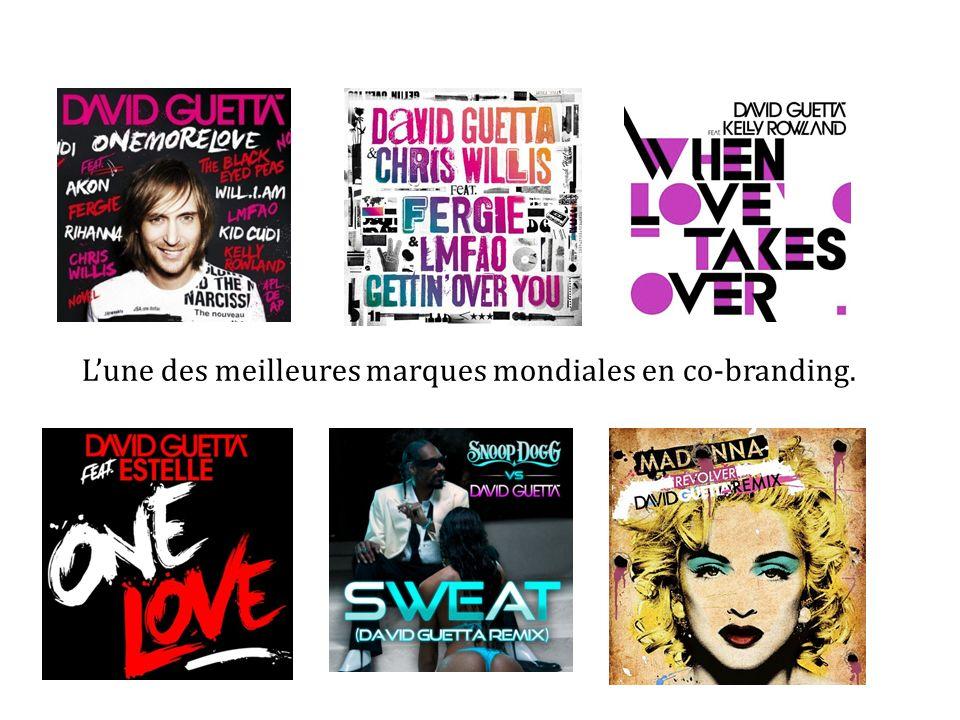 Lune des meilleures marques mondiales en co-branding.