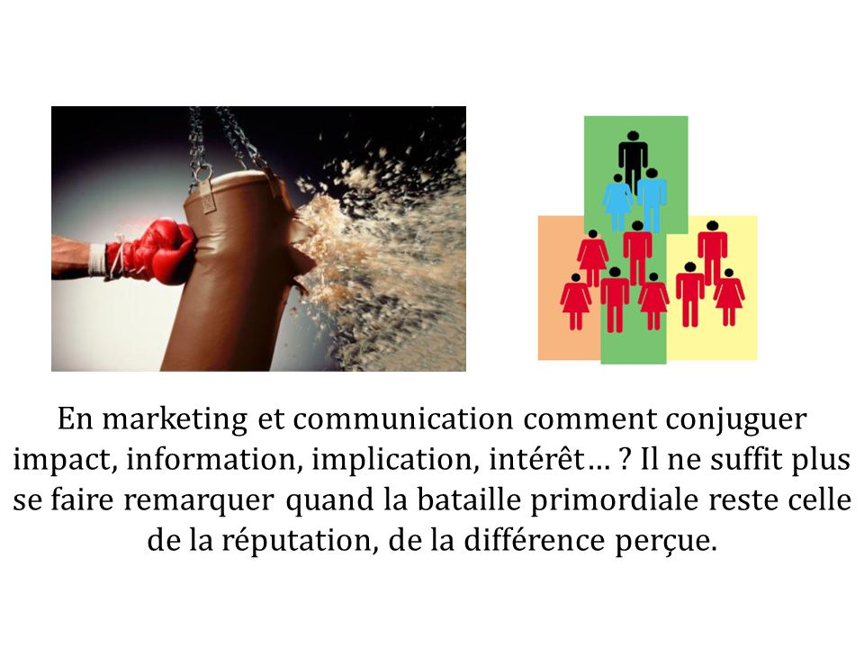En marketing et communication comment conjuguer impact, information, implication, intérêt… .