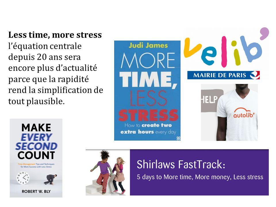 Less time, more stress léquation centrale depuis 20 ans sera encore plus dactualité parce que la rapidité rend la simplification de tout plausible.