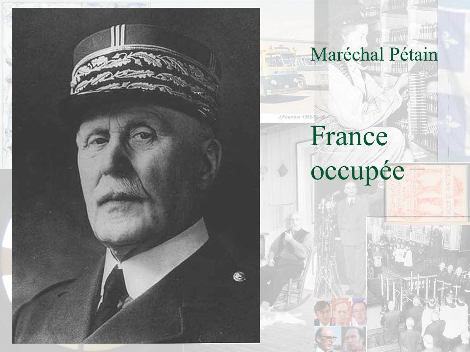 Maréchal Pétain France occupée