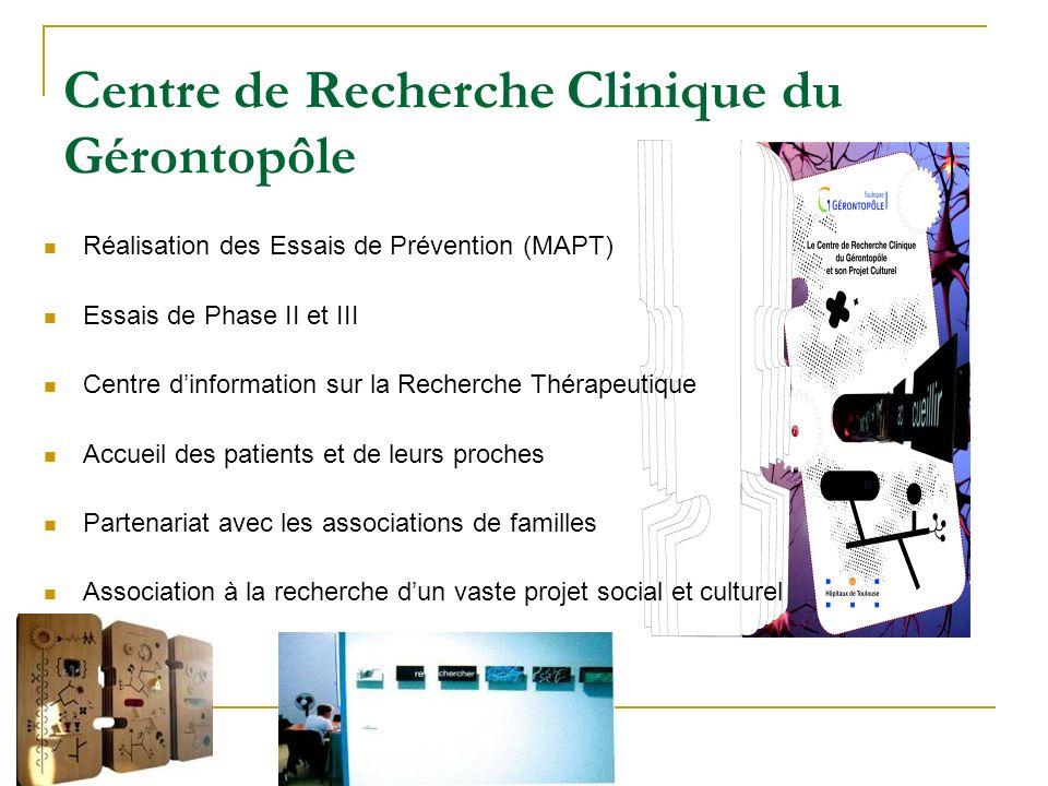 Réalisation des Essais de Prévention (MAPT) Essais de Phase II et III Centre dinformation sur la Recherche Thérapeutique Accueil des patients et de le