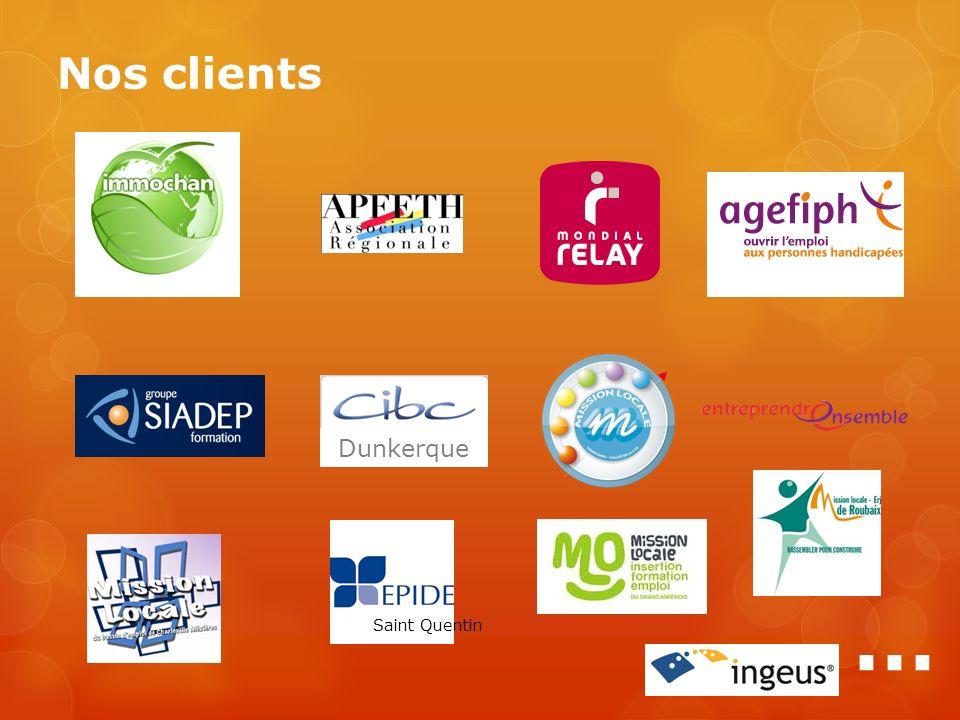 Nos clients Saint Quentin … Dunkerque