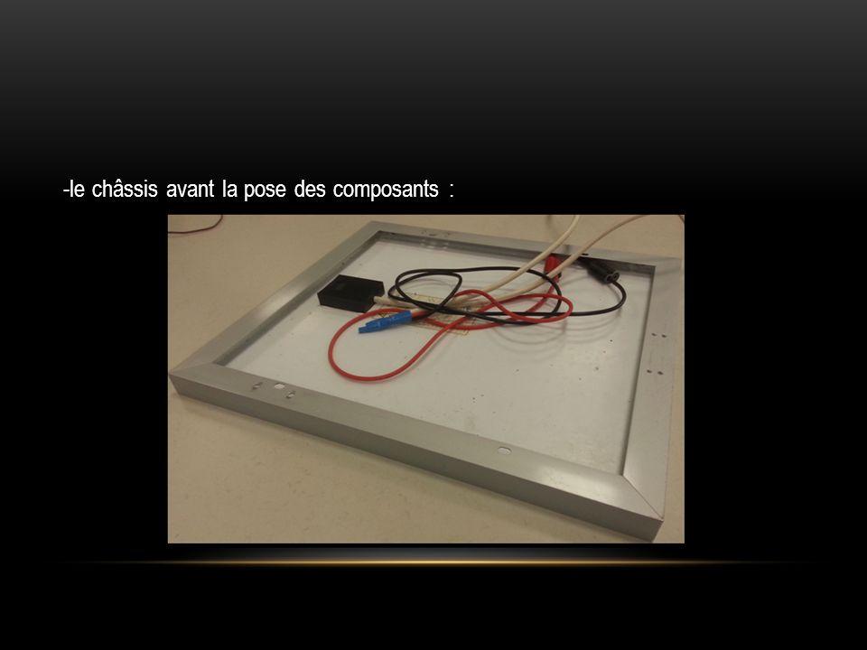 -le châssis avant la pose des composants :