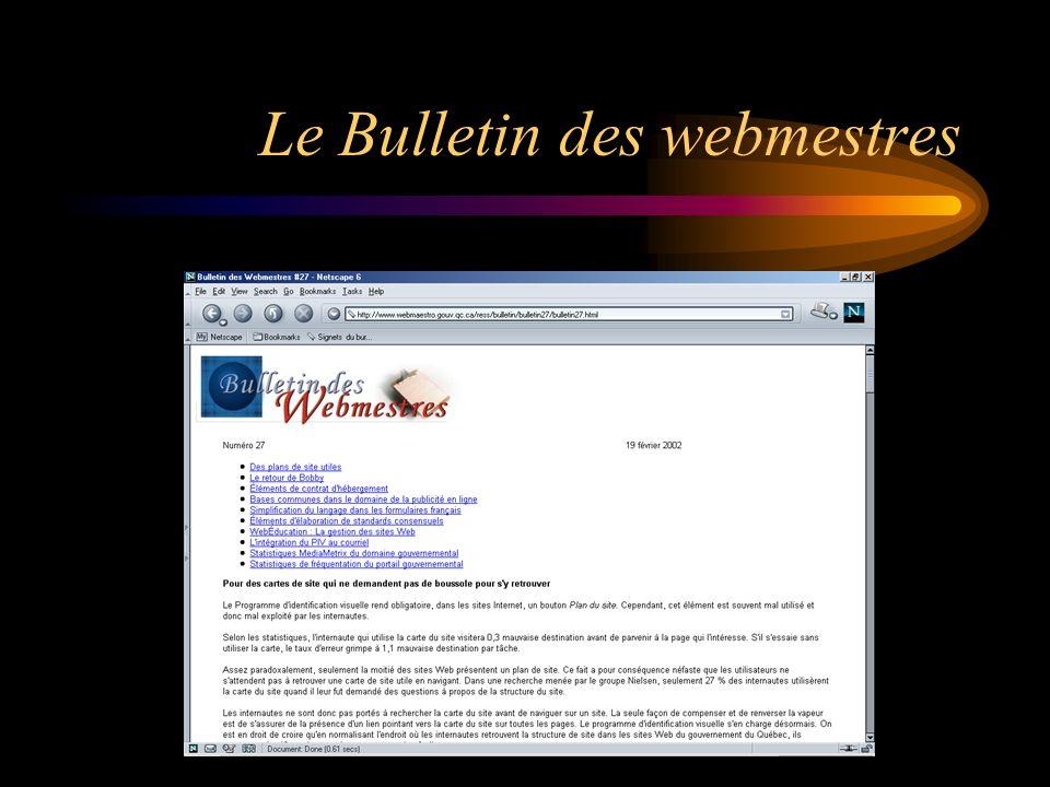 Le Bulletin des webmestres