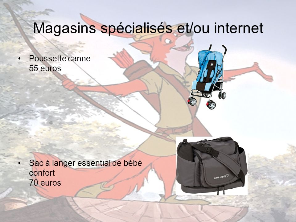 Magasins spécialisés et/ou internet Lumi gym parlant de V tech 39,95 euros sur: www.amazon.fr www.amazon.fr Tapis de parc octogonal 19,95 euros sur: www.avenuedesjeux.com ou www.cdiscount.com www.avenuedesjeux.com www.cdiscount.com
