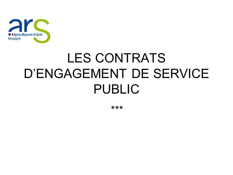 LES CONTRATS DENGAGEMENT DE SERVICE PUBLIC ***
