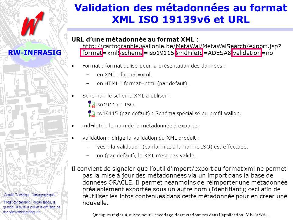 Comité Technique Cartographique: Projet concernant l organisation, la gestion, la mise à jour et la diffusion de données cartographiques RW-INFRASIG V