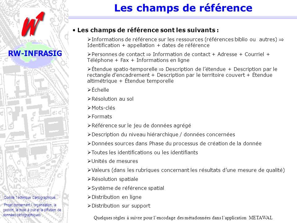 Comité Technique Cartographique: Projet concernant l organisation, la gestion, la mise à jour et la diffusion de données cartographiques RW-INFRASIG Les unions et les spécialisations Les unions et les spécialisations engendrent un choix entre 2 rubriques.