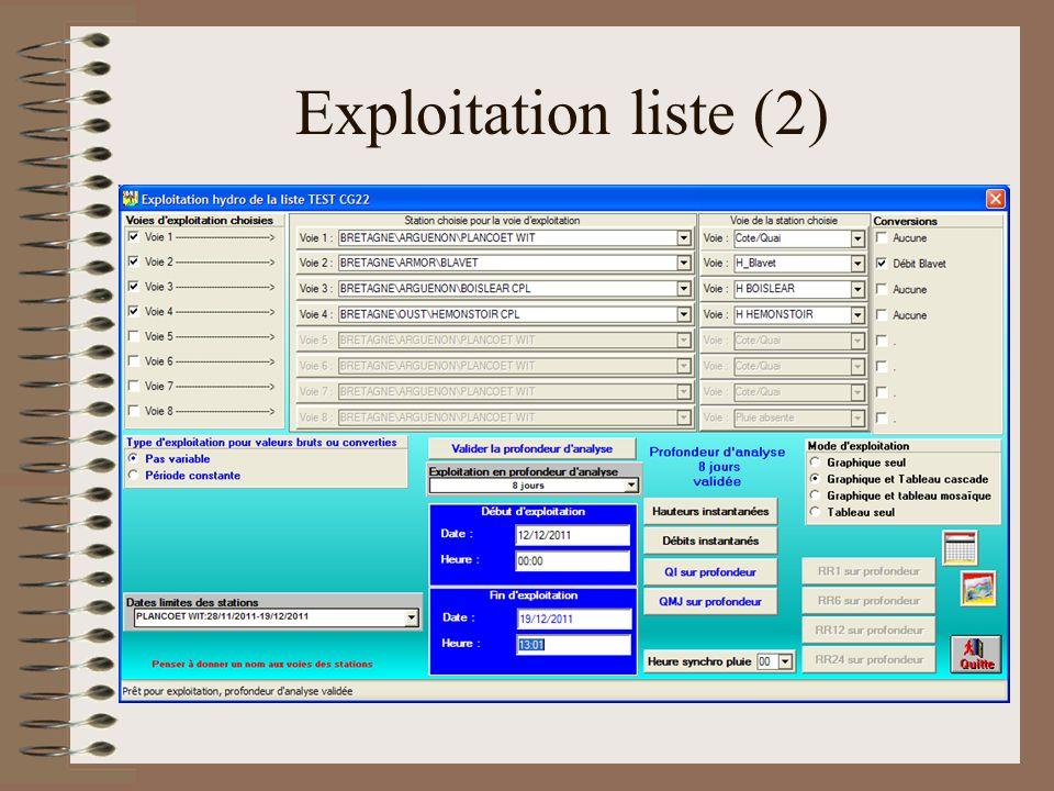 Exploitation liste (2)