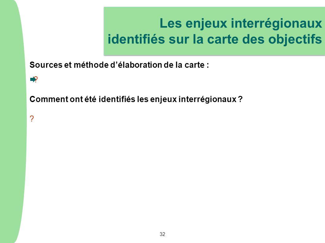 Sources et méthode délaboration de la carte : ? Comment ont été identifiés les enjeux interrégionaux ? ? Les enjeux interrégionaux identifiés sur la c