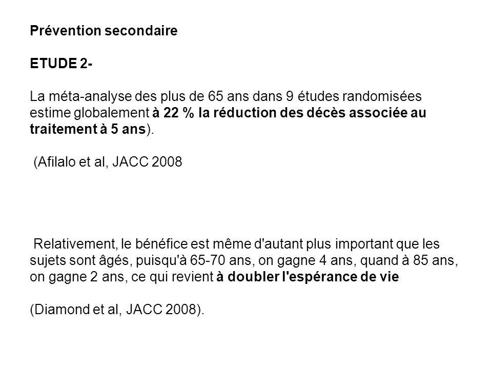 Recommandations Afassaps 2005 En prévention primaire, -Continuation d une prévention primaire initiée avant 70 ans et ce, jusqu à 80 ans ou plus.