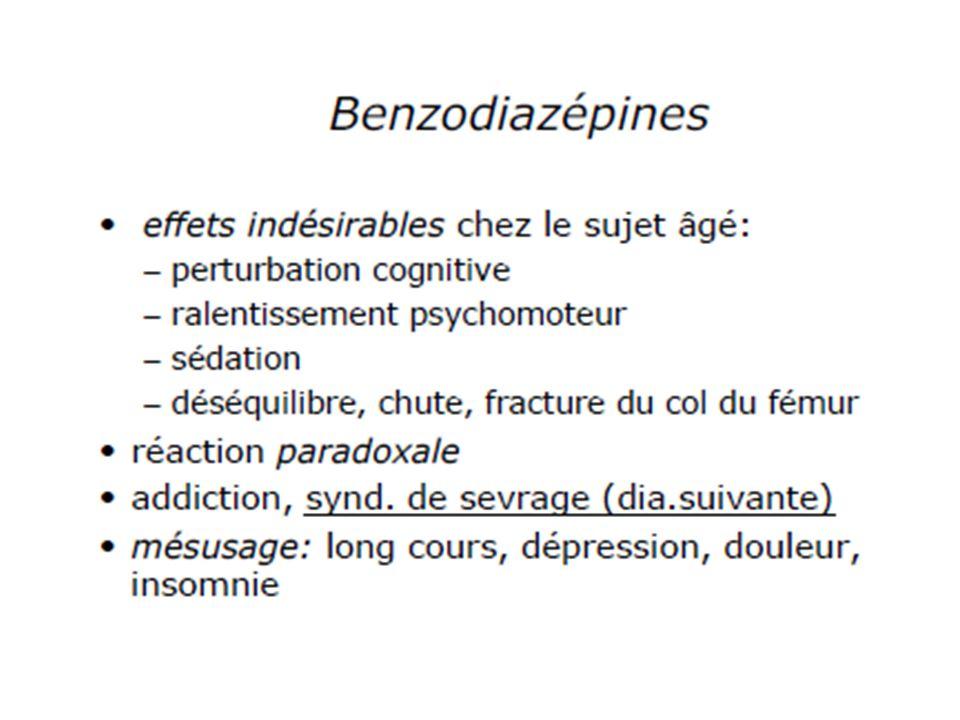 Neuroleptiques classiques: Haldol*, Tercian*,Loxapac* atypiques: Risperdal*,Zyprexa*,Leponex*