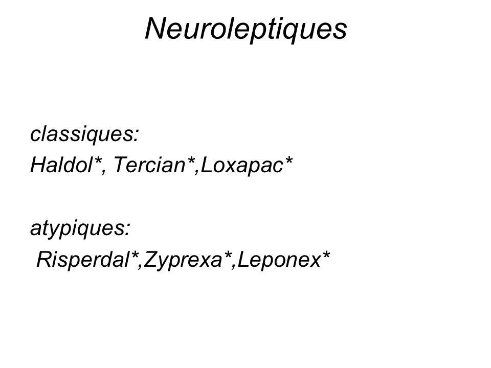 Neuroleptiques et sujet âgé Effets Indésirables Synd.