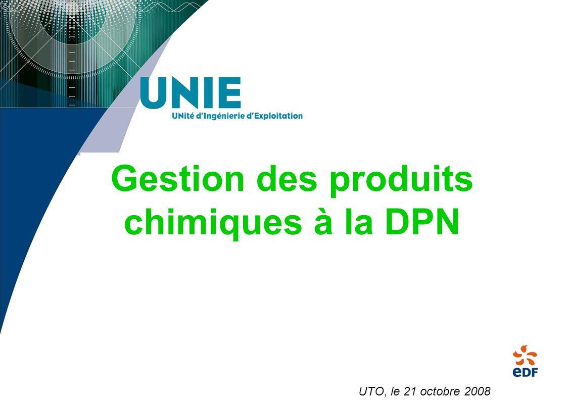 Gestion des produits chimiques à la DPN UTO, le 21 octobre 2008