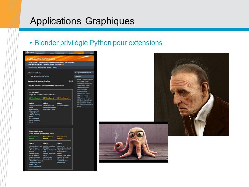 Applications Graphiques Blender privilégie Python pour extensions