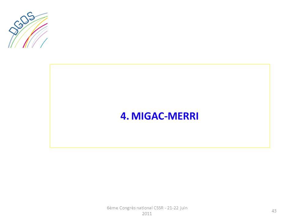 4. MIGAC-MERRI 43 6ème Congrès national CSSR - 21-22 juin 2011