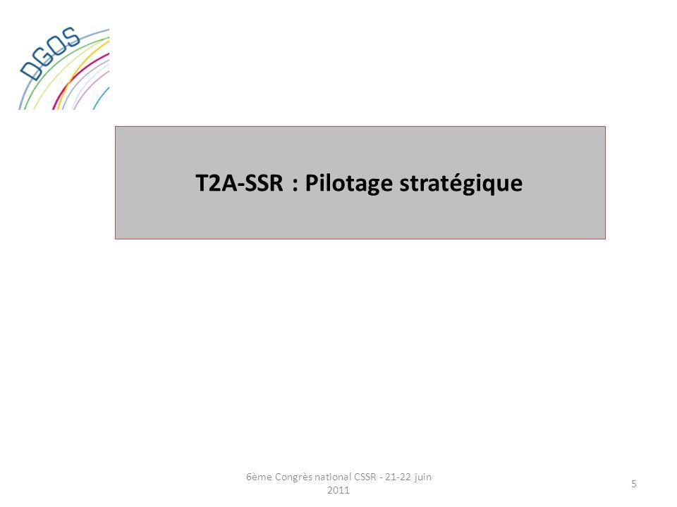 T2A-SSR : Pilotage stratégique 5 6ème Congrès national CSSR - 21-22 juin 2011