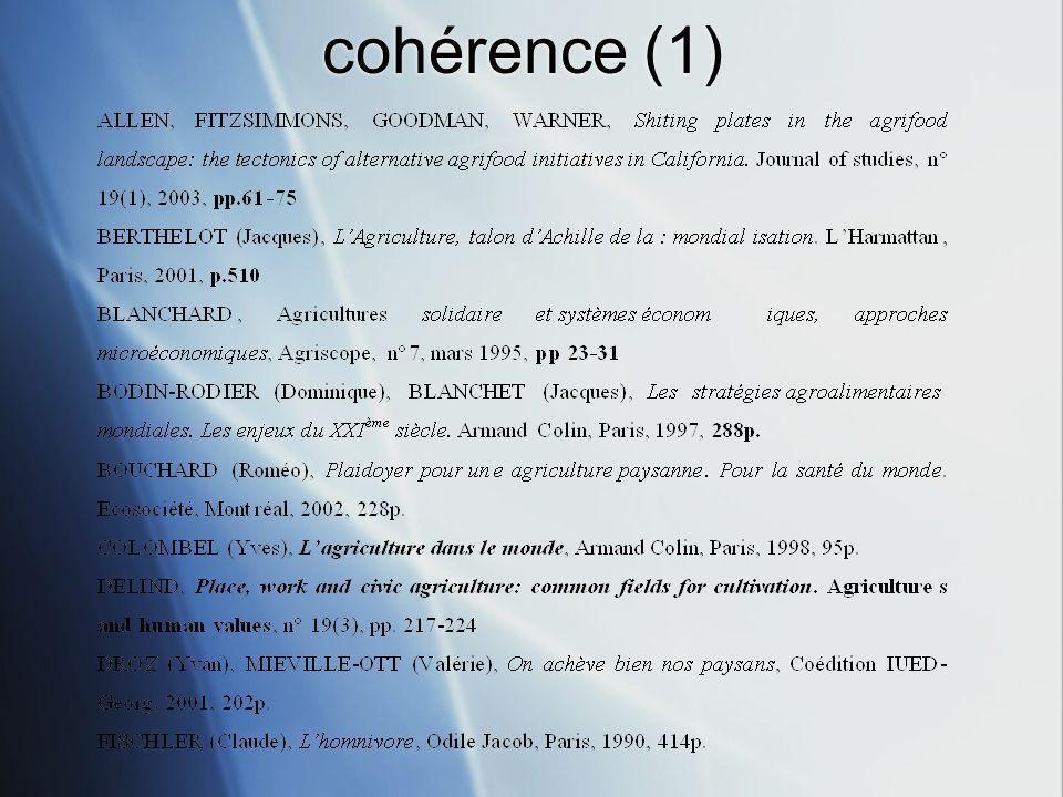 cohérence (1)