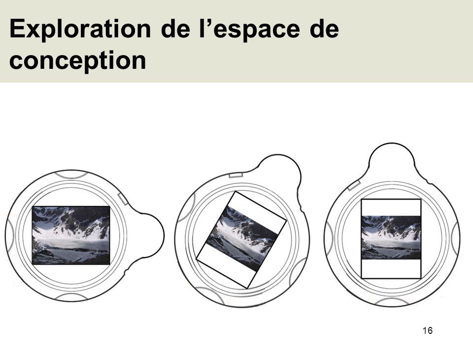 16 Exploration de lespace de conception