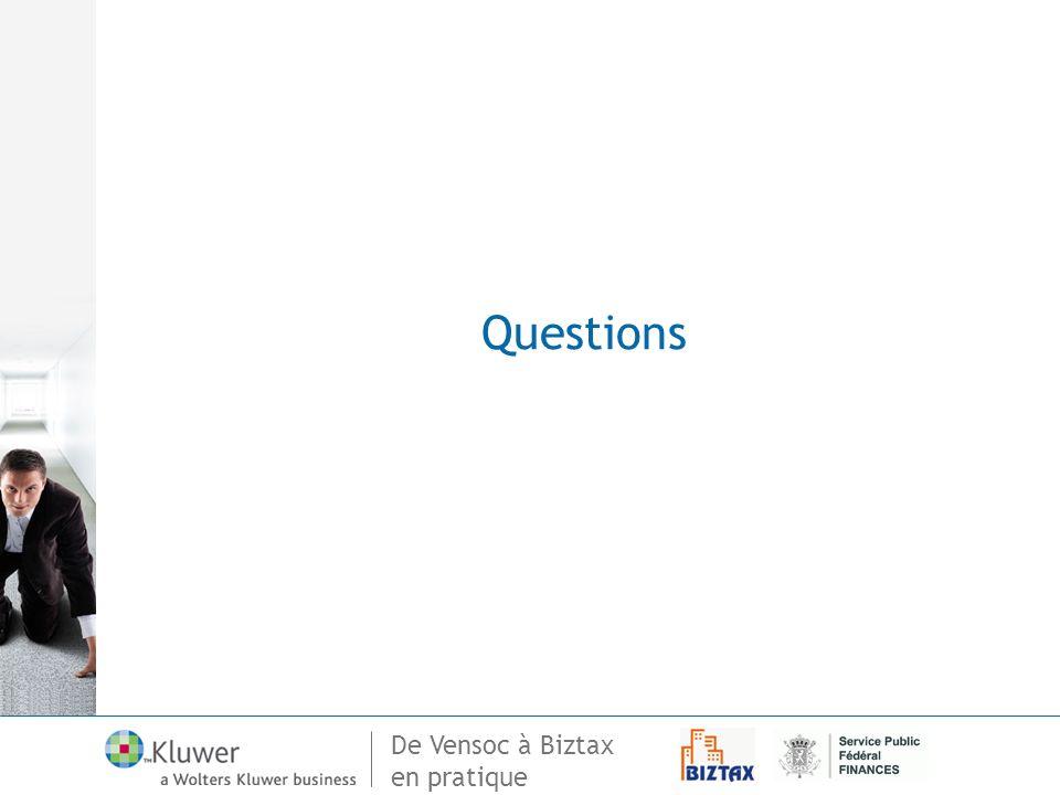 De Vensoc à Biztax en pratique Questions