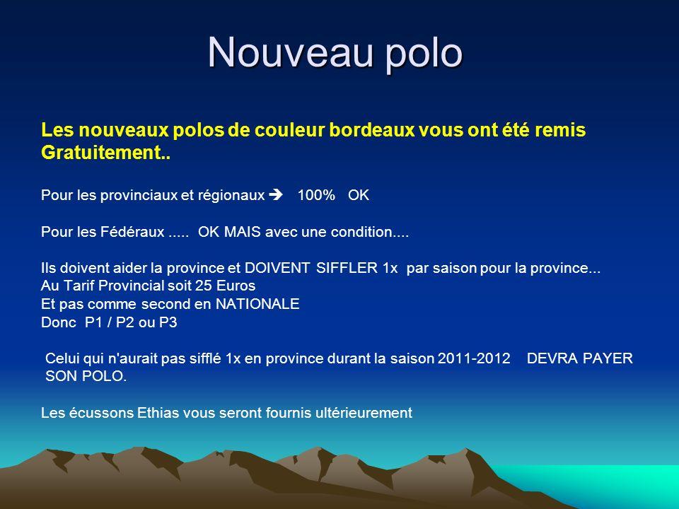Nouveau polo Les nouveaux polos de couleur bordeaux vous ont été remis Gratuitement..