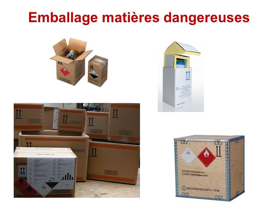 Emballage matières dangereuses